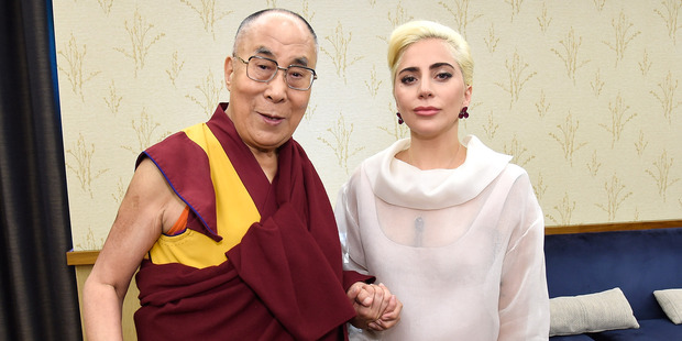 Lady Gaga joined the Dalai Lama to speak to US Mayors about kindness at JW Marriott. Photo / Getty Images