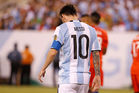 Lionel Messi after defeat against Chile in the Copa America final. Photo / Getty