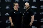 New Zealand Olympic Weightlifters Tracey Lambrechs (L) and Richie Patterson (R). Photo / Gettyimages
