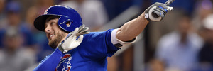 Kris Bryant bats during a MLB game against the Miami Marlins. Photo / Getty Images