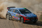 Hayden Paddon during the shakedown at WRC Poland. Photo / Timo Anis
