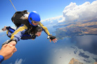 The Waikato/Bay of Plenty Cancer Society is looking for at least 24 fearless fundraisers to do a tandem skydive in the name of charity. Photo/supplied