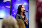 Ria Hall performs at the Tauranga Hospital for staff members. Photo/Ruth Keber