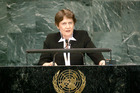 Former NZ Prime Minister Helen Clark is one of 11 people seeking the role of UN Secretary General. Photo / UN