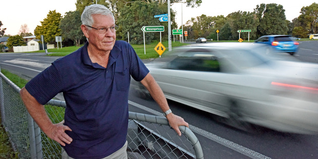 Maungatapu resident David Hill says there's no such thing as rush hour anymore, as increased traffic creates a steady stream of congestion. Photo / George Novak