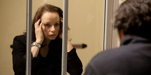 Samantha Morton as Naomi from The Last Panthers.