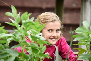 Little Gardener, Ella Webb. Photo/George Novak