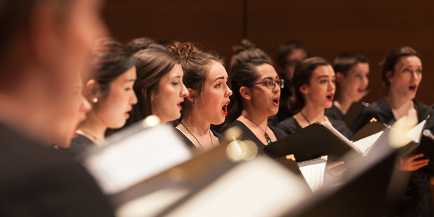 The NZ Youth Choir in preparation for international appearances and competitions across Europe. Photo / Brooke Baker