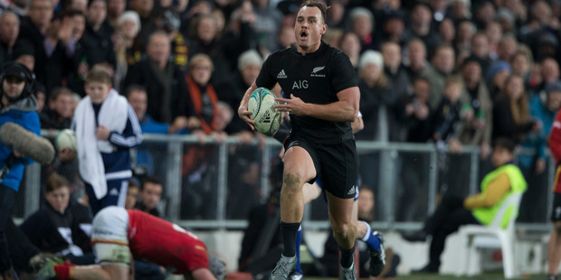 Loading New Zealand All Blacks fullback Israel Dagg in action against against Wales during the third and final test match between the All Blacks and Wales. Photo / Brett Phibbs.