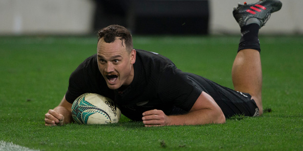 Loading New Zealand All Blacks fullback Israel Dagg sprints in a try at fulltime against Wales during the third and final test match between the All Blacks and Wales. Photo / Getty Images.