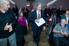 New Zealand First leader Winston Peters at a public meeting in Rotorua at the weekend. Photo / Stephen Parker