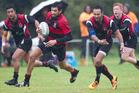 Whaka's Te Rangi Fraser in action against Arataki. Photo / Stephen Parker