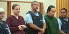 Tania Shailer and David Haerewa, right, appear in the Rotorua High Court today. Photo / Ben Fraser