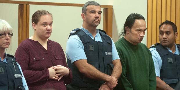Tania Shailer and David Haerewa appear in the Rotorua High Court today for sentencing for the death of three-year-old Moko Rangitoheriri. Photo / Ben Fraser