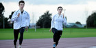Tauranga sprinters Ethan Holman, left, and Brooke Somerfield will represent New Zealand at the World Junior Athletic Championships in Poland. Photo / George Novak
