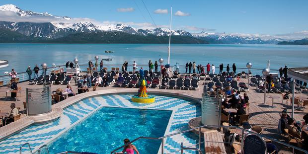 The MS Westerdam in Glacier Bay, Alaska. Photo / Travis Jacobs