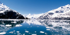 Ice melting on John Hopkins Glacier, Glacier Bay National Park and Preserve, Alaska.