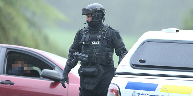 Police were threatened while trying to issue an arrest warrant at a Kaimai property and the AOS were called out. Photo/John Borren
