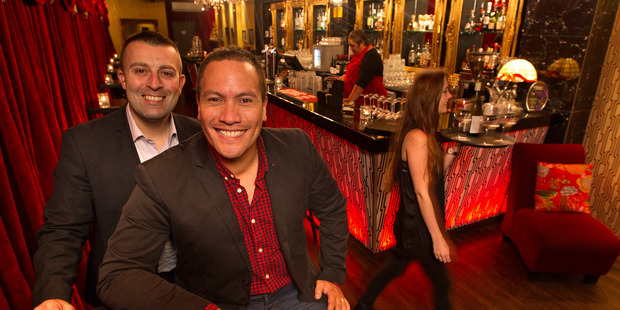 """Loading Ponsonby Rd Lounge Bar owners Tim Smith (left) and Tamati Coffey are paying their staff a """"living wage"""". PHOTO/BEN FRASER"""