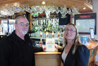 BEER AND BOOKS: Peter Northway from SOBA and Gillian Tasker from the Whanganui Literary Festival Trust.