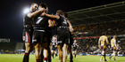 Warriors celebrate David Fusitu'a's try during the round 13 NRL match between the New Zealand Warriors and the Brisbane Broncos at Mt Smart Stadium. Photo / Getty Images