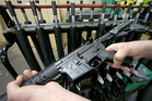 An AR-15 like the one Second Amendment Sports is raffling to benefit the victims of the Orlando nightclub shooting. Photo / AP