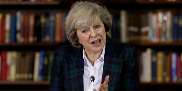 Theresa May was praised for a bravura performance as she launched her campaign. Photo / AP