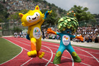 The mascots of the Rio 2016 Olympics, left, and Paralympic Games. Photo / AP