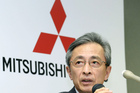 Mitsubishi's senior executive officer Yoshihiko Kuroi speaks to the media in Tokyo. The firm is about to recall 27,000 vehicles in New Zealand. Photo / Kyodo News via AP