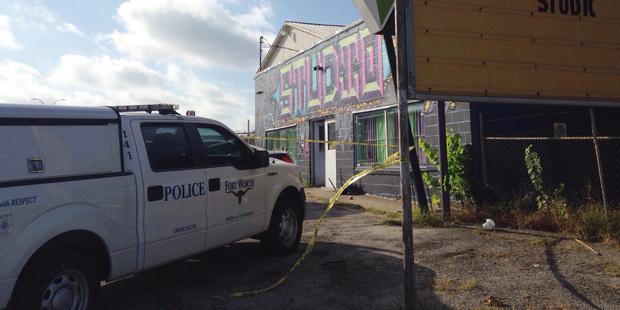 Police respond to the scene of a shooting at a Fort Worth, Texas dance studio. Photo / AP