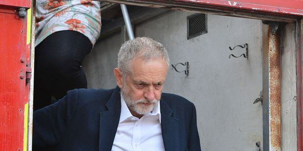 Labour party leader Jeremy Corbyn refuses to resign in the face of a seemingly untenable position as a flood of more than 40 MPs have tendered their resignation. Photo / AP