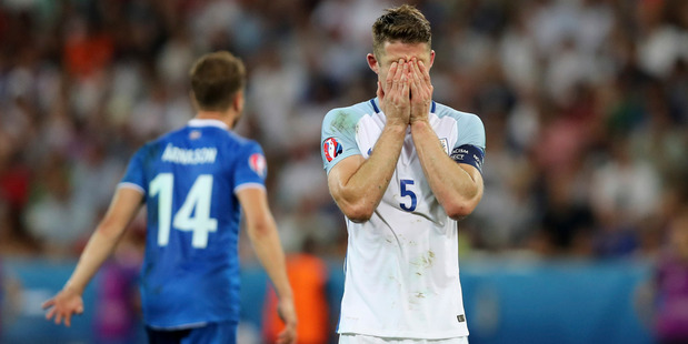 Danny Baker was clearly less than impressed with England's performance against Iceland. Photo / AP