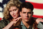 Kelly McGillis pictured with Tom Cruise for Top Gun. Photo / Supplied