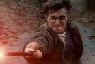 Actor Daniel Radcliffe as Harry Potter in a scene from the final Harry Potter movie.