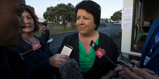 Cabinet minister Paula Bennett talks to media after her visit to Te Puea Marae, Mangere Bridge, to view the marae accommodation for the homeless. Photo/File