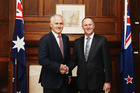 Malcolm Turnbull faces a general election on Saturday and took time out of his campaign schedule for the discussion with John Key. Photo / Supplied
