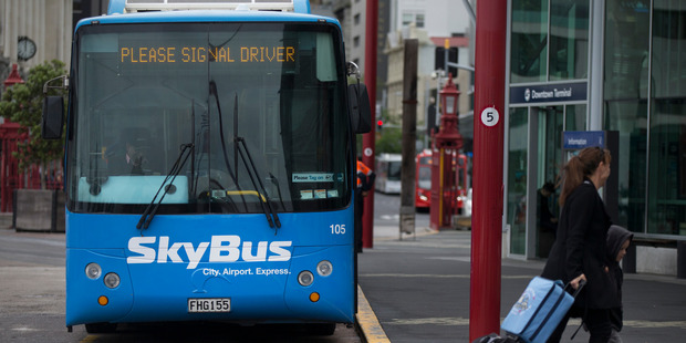 The Auckland Skybus airport bus. Photo / Nick Reed