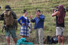 ON THE ROAD: Pio Terei talks to Yasmine Hunter at the Turakina Highland Games for Te Araroa: Tales from the Trails. PHOTO/BEVAN CONLEY