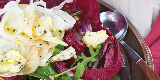 Radicchio Blue Cheese and Pine Nut Salad.