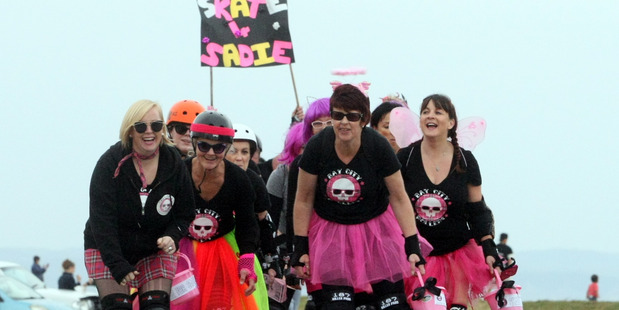 Loading GENEROSITY: Bay City Roller Derby members showed their support in the Skate for Sadie fundraiser. PHOTO/Paul Taylor