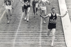 Sir Peter Snell wins the the Olympic 1500m final in Tokyo. Photo / New Zealand Herald Archive