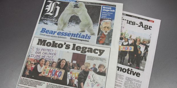 Masterton makes the front page of the New Zealand Herald with their March for Moko.