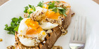 A spicy twist to eggs on toast