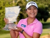 Lydia Ko displays the trophy after winning the Walmart NW Arkansas Championship. Photo / Getty Images