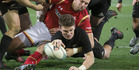 Beauden Barrett was in sublime for at first-five against Wales. Photo / Brett Phibbs