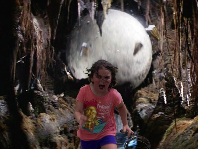 Running from the boulder in Indiana Jones. Photo / imgur