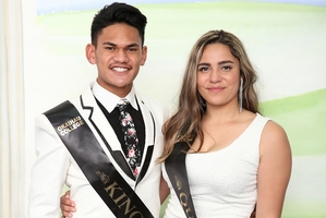 ROYALTY: King and Queen of the Ball, Leon Schaumkel and Sequoia Stevens. PICTURE/BREDAN KAY, LANGWOODS EVENT PHOTOGRAPHY