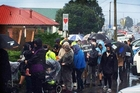 About 200 people braved atrocious weather on Monday to March for Moko in Dargaville. Photo / Big River FM