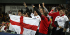 England fans celebrate the side's 3-0 series sweep of Australia. Photo /Getty