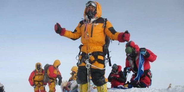 An image posted by Satyarup Siddhanta from his own climb. Photo / Facebook